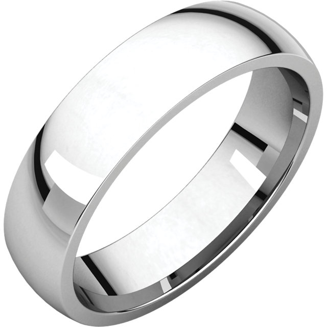 Platinum 5mm Comfort Fit Band Donna Jewelry Co