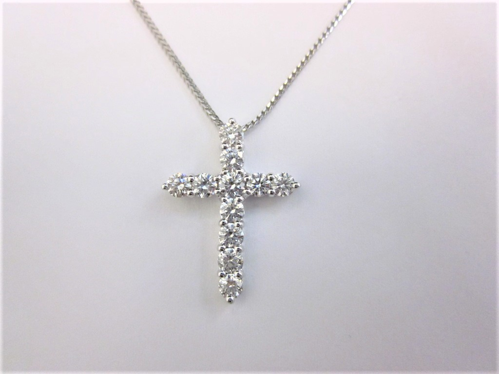 18k white gold diamond cross pendant 1 ctw donna jewelry co back to category aloadofball Image collections